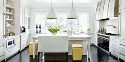 Absolutely Love Clean White Cabinets Dark Wood Floors
