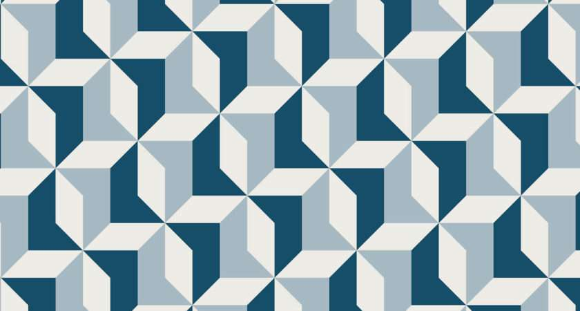 Abstract Blue Geometric Muralswallpaper