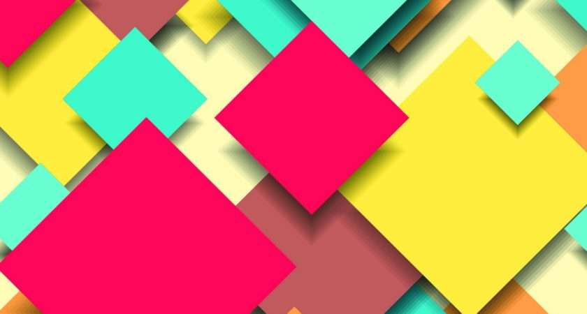 Abstract Wide Colorful Digital Design