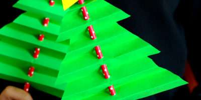 Accordion Paper Christmas Tree Easy Peasy Fun