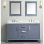 Ace Inch Double Sink Whale Grey Bathroom Vanity Set