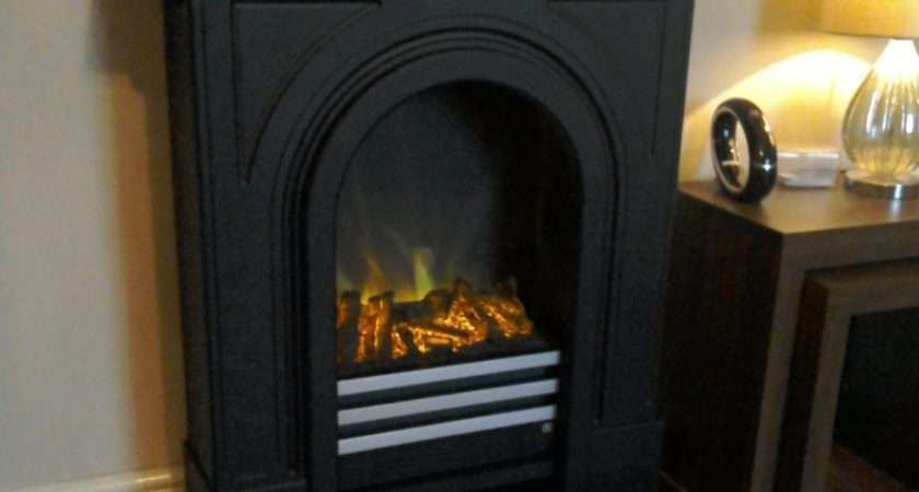 Adam Durham Electric Fireplace Suite Black Cast Effect