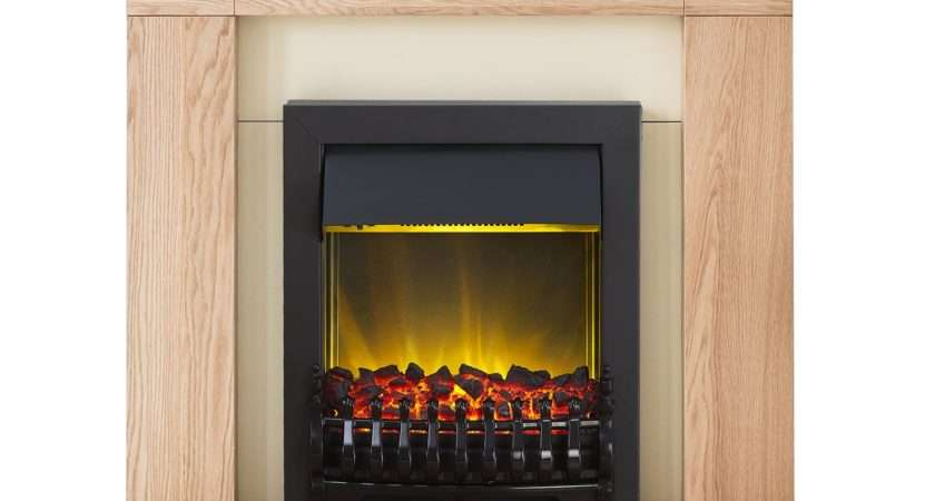 Adam Malmo Fireplace Suite Oak Blenheim Electric