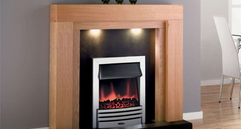 Adam Montana Electric Fireplace Suite Chrome Fire