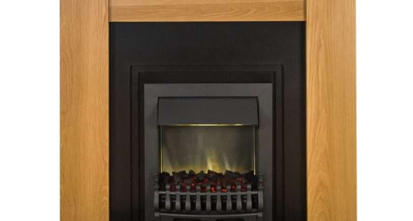 Adam New England Fireplace Suite Oak Cast Effect