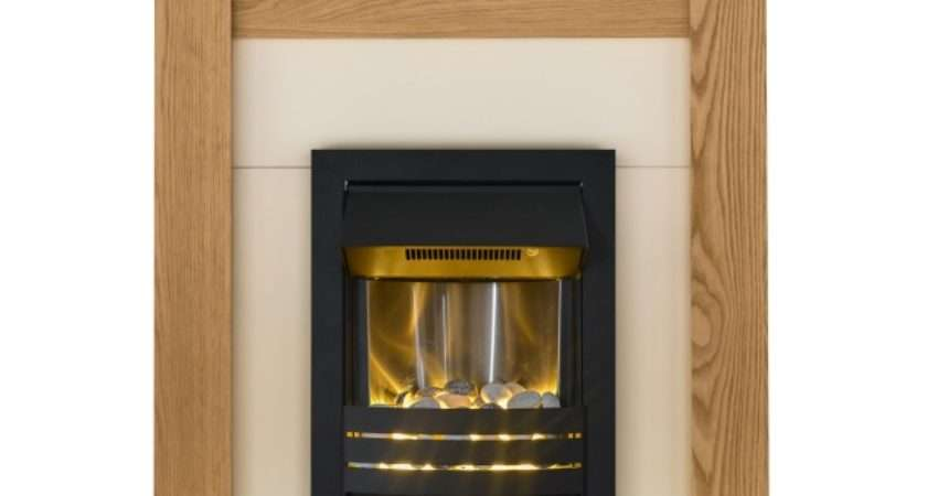 Adam Southwold Fireplace Suite Oak Helios Electric