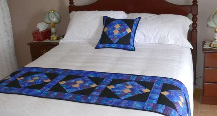 Add Quick Splash Color Bed Runner Quilting