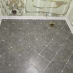 Added Newly Cut Tile Floor Make Sure All Fit