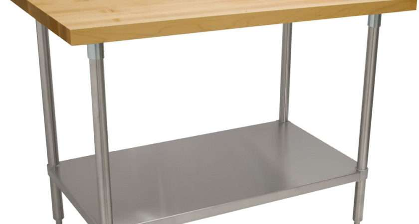 Advance Tabco Wood Top Work Table Stainless