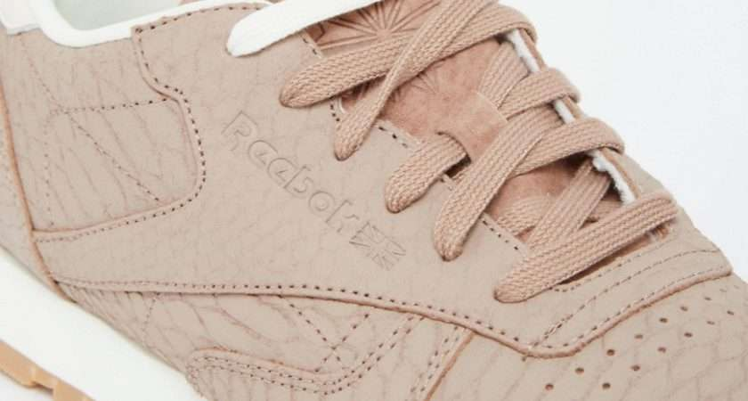 Affordable Women Reebok Taupe Classic Leather Sneakers