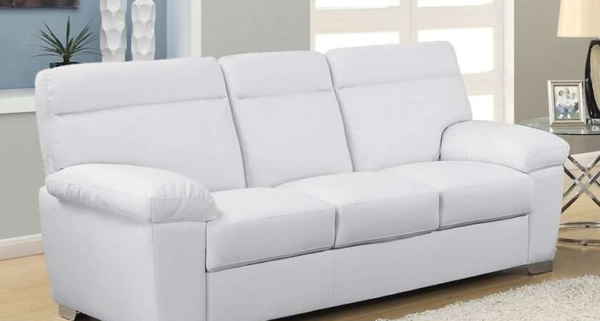 Alto Modern High Back Leather Sofa Collection White