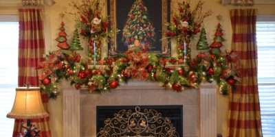Amazing Christmas Fireplace Mantel Decorating Ideas Decor
