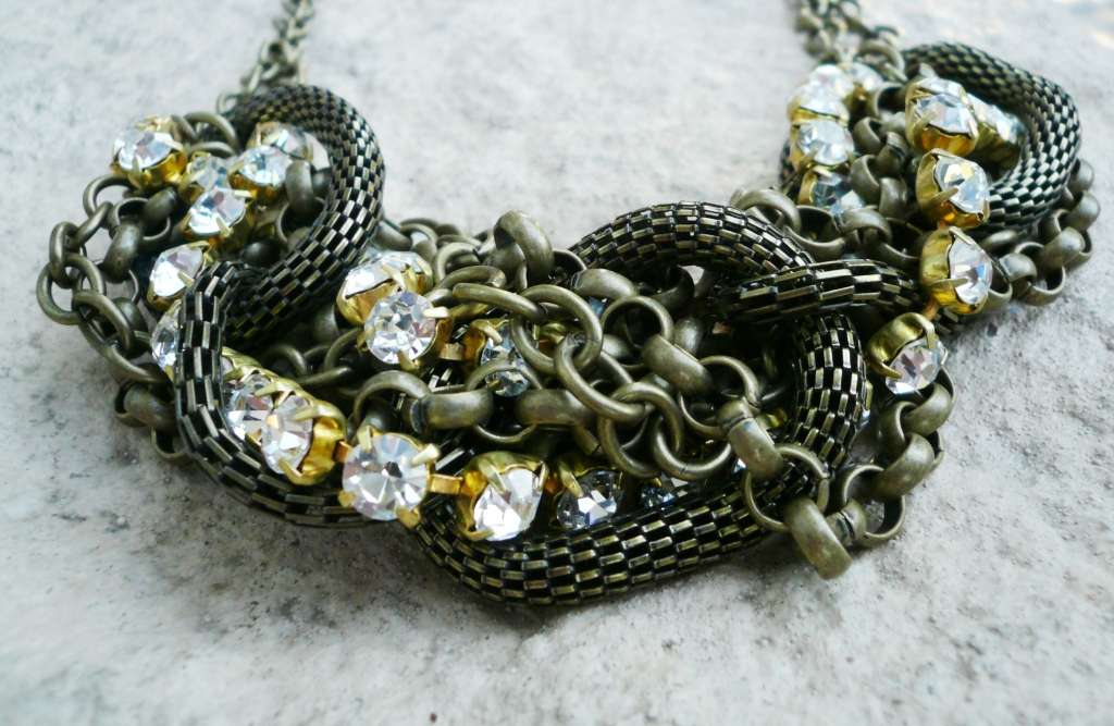 Amazing Couture Handcrafted Bronze Age Necklace Made