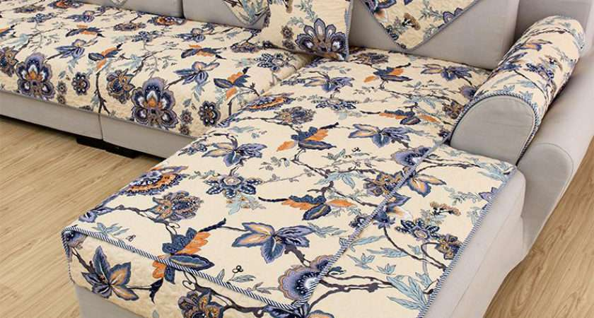 American Style Multi Color Floral Print Quilting Sofa