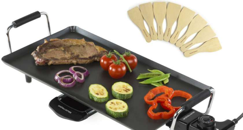Andrew James Electric Teppanyaki Table Grill Griddle Bbq