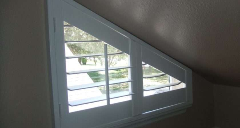 Angle Top Bottom Triangle Window Treatments