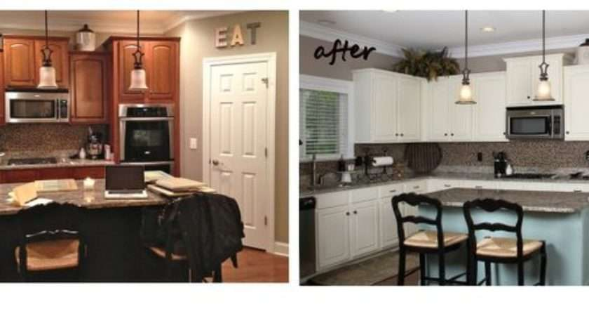 Annie Sloan Duck Egg Blue Painted Kitchen Cabinets Before After
