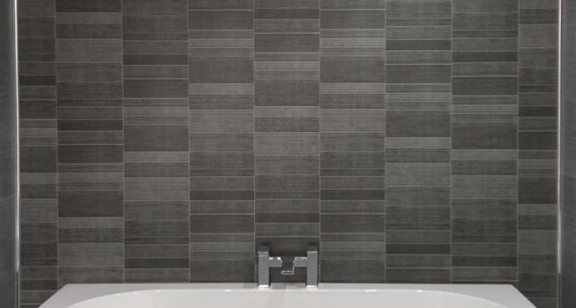 Anthracite Modern Tile Bathroom Cladding Shop