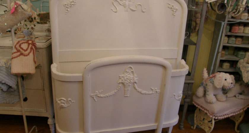 Antique Chic Bed Frame White Shabby Twin Vintagechicfurniture