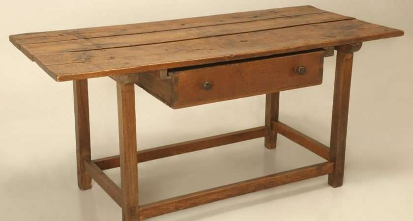 Antique French Work Table Kitchen Island