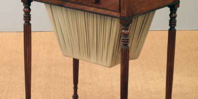 Antique Mahogany Work Table Sewing