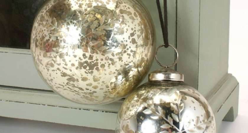 Antique Silver Etched Snowflake Glass Bauble Sizes Pipii