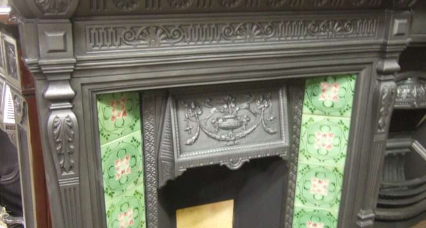 Antique Victorian Tiled Fireplace Old Fireplaces