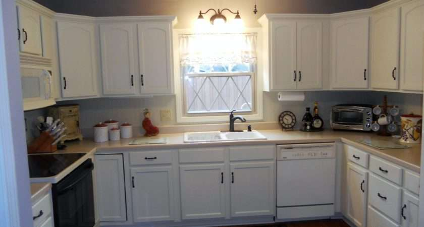 Antique White Painted Kitchen Cabinets After Jan