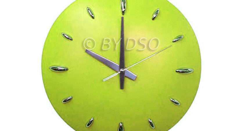 Apollo Stylish Colour Splash Dome Kitchen Wall Clock Green