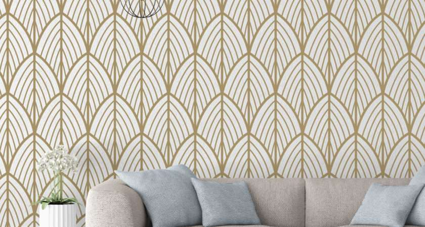 Art Deco Leaves Removable Moonwallstickers