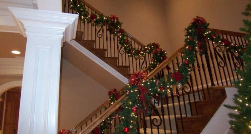 Artificial Garland Placed Staircases Mantels Should Look