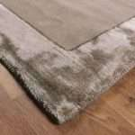Ascot Taupe Rugs Stylish Plain Wool