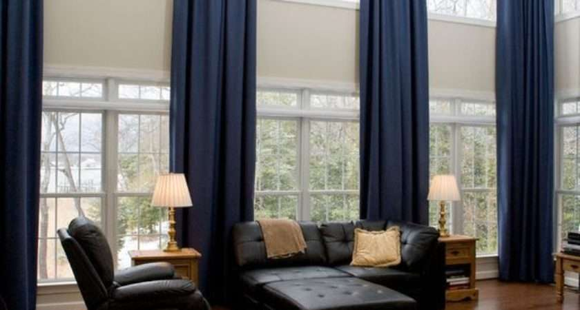 Astonishing Window Treatments Large Windows Living