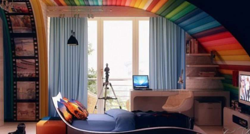 Awesome Ideas Adding Rainbow Colors Your Home Cor