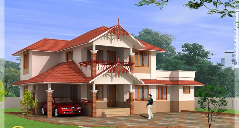 Awesome Indian Home Elevations Kerala Design