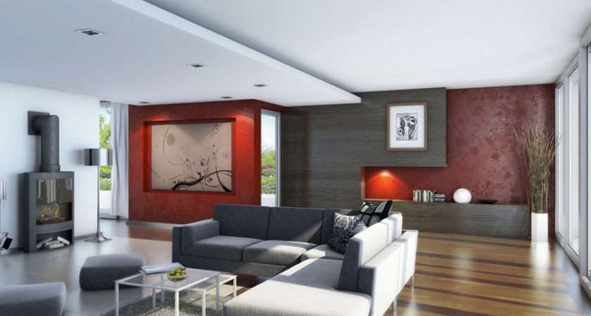 Awesome Living Room Wood Flooring Red Decor
