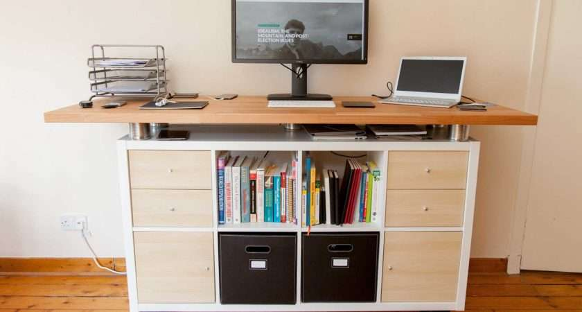 Awesome Standing Desk Ikea Hack Soulchaser
