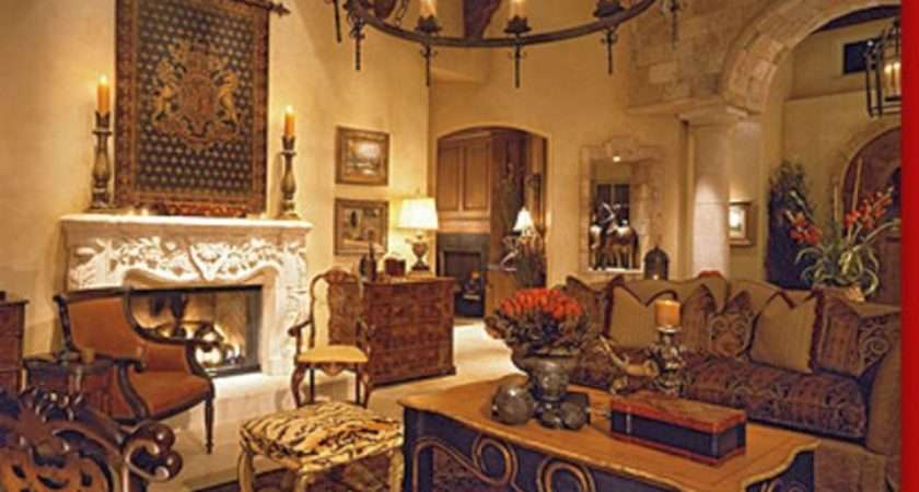 Awesome Tuscan Living Room Designs
