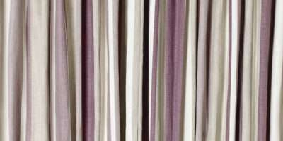 Awning Stripe Grape Ready Made Curtains Laura Ashley
