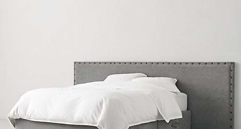 Axel Graphite Upholstered Wide Storage Bed