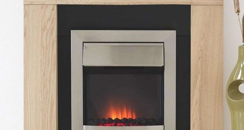 Axon Malmo Contemporary Coal Electric Fireplace Suite