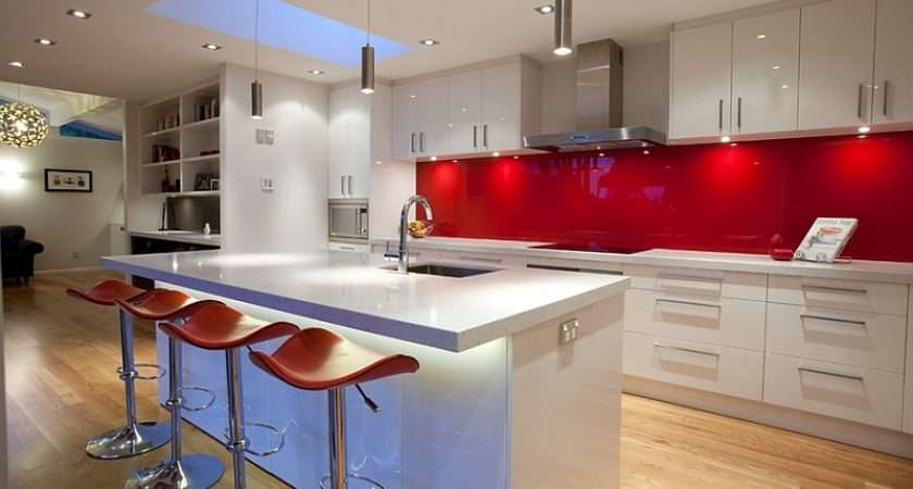 Back Painted Glass Backsplashes Red Both Popular Trendy