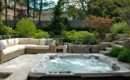 Backyard Patio Ideas Hot Tub Landscaping Gardening