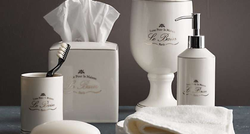 Bain French Porcelain Accessories White
