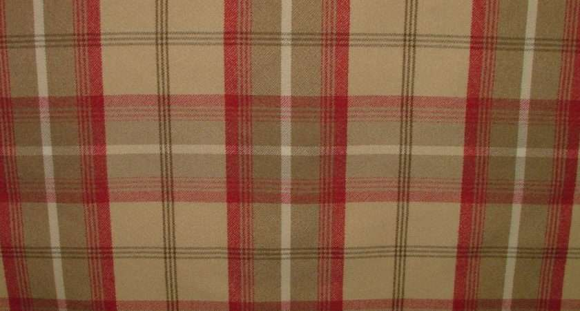Balmoral Cranberry Wool Effect Washable Thick Tartan