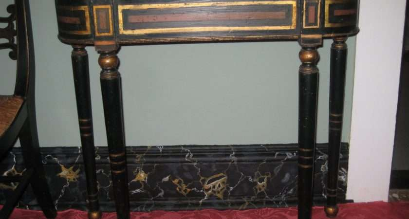 Baltimore Painted Gilt Pier Table King Prussia Marble Top
