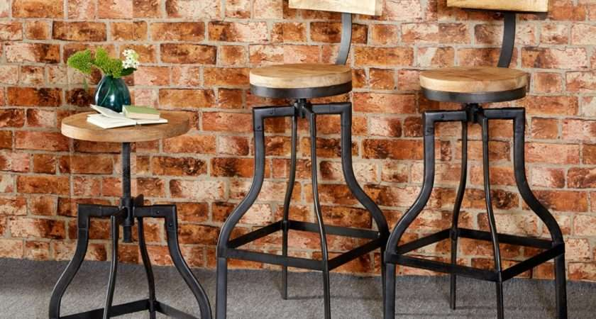 Bar Stool Upcycled Industrial Vintage Mintis