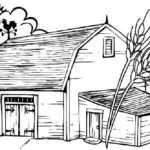 Barn Drawing Kids Stable Color