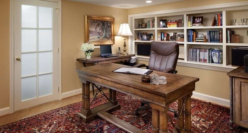 Basement Home Office Design Decorating Tips