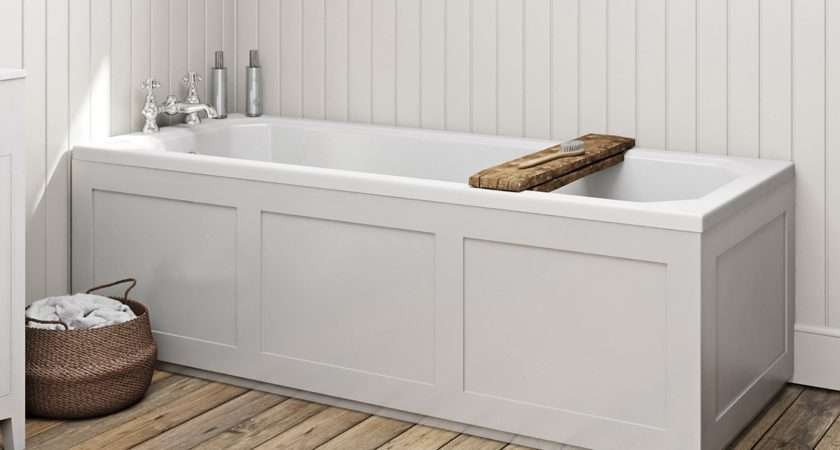 Bath Camberley White Wooden Straight Front